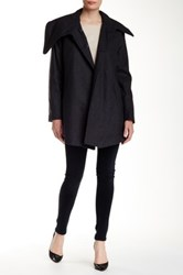 Rachel Roy Wool Blend Drape Front Coat Gray