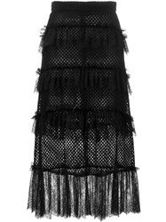 Philosophy Di Lorenzo Serafini Lace Ruffle Net Skirt Black
