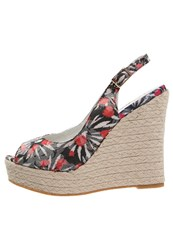 Refresh Peeptoe Heels Negro Multicoloured