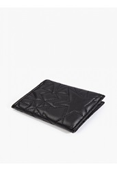 Neil Barrett Black Leather Quilted Card Holder