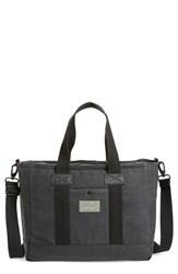 Men's Hex Convertible Tote Bag Grey Charcoal Canvas