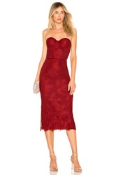 Lovers Friends Tinley Midi Dress Red