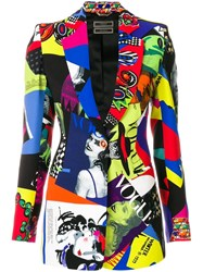 Versace Vogue Print Blazer Multicolour