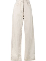 Dries Van Noten Picabis Wide Leg Trousers Nude And Neutrals