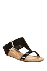 Rampage Sheryl Wedge Sandal Black