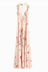 Giambattista Valli Cold Shoulder Maxi Dress Pink
