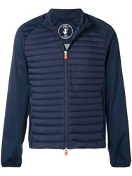 Save The Duck Zip Up Quilted Jacket Blue