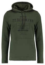 Tom Tailor Denim Hoodie Woodland Green Oliv