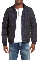 Scotch And Soda Men's Iridescent Moonshine Quilted Bomber Jacket