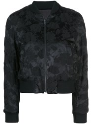 Ann Demeulemeester All Over Print Bomber Jacket Black