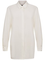 Jaeger Silk Wrap Over Cuff Blouse Ivory