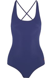 Tomas Maier Lace Up Swimsuit Blue