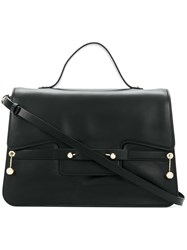 Red Valentino Square Design Tote Bag Black