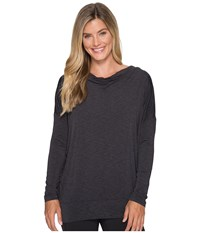 Lucy To The Barre Long Sleeve Black Heather Women's Long Sleeve Pullover