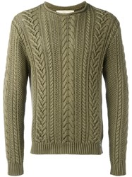 Denim And Supply Ralph Lauren Cable Knit Jumper Green