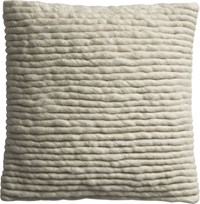 Cb2 Wool Wrap 16 Pillow With Feather Insert