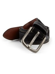Saks Fifth Avenue Leather Belt Black