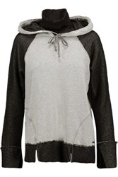 Koral Jersey Trimmed Modal Blend Hooded Sweatshirt Gray
