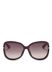 Christian Dior 'Twisting F' Suspended Lens Acetate Sunglasses Purple