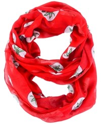 Forever Collectibles Ohio State Buckeyes All Over Logo Infinity Wrap Scarf Red