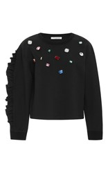Vivetta Crespino Jeweled Sweater Black