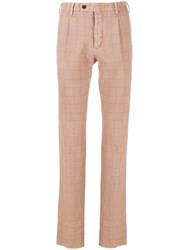 Gabriele Pasini Checked Tailored Trousers Neutrals