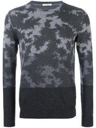 Paolo Pecora Patterned Jumper Grey