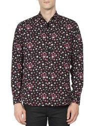 Saint Laurent Multi Color Star Printed Shirt Black Multicolor