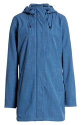 Ilse Jacobsen Hooded Raincoat Blue Rock