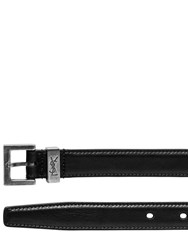 Saint Laurent 20Mm Leather Belt