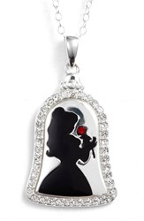 Disney Princess Belle 'Bold As A Rose' Pendant Necklace Silver