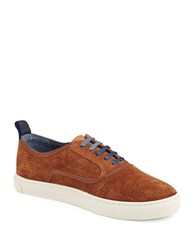 Ted Baker Odonel Perforated Suede Oxfords Tan