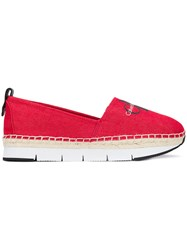 Calvin Klein Jeans Thick Sole Logo Espadrilles Red