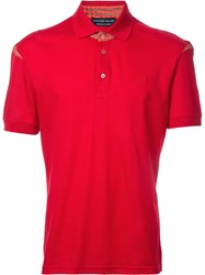 Alexander Mcqueen Printed Insert Polo Shirt Red