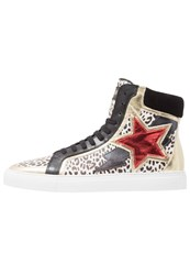 Just Cavalli Hightop Trainers Natural Variant Black