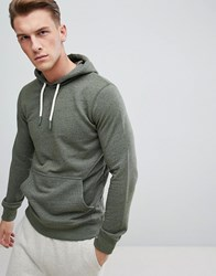 Esprit Hoodie In Khaki With Chunky Drawcord Green