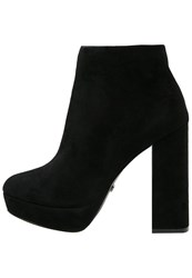 Buffalo High Heeled Ankle Boots Black