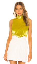Amanda Uprichard Fleurette Tank In Yellow. Acid Yellow