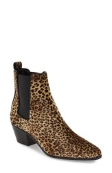 Saint Laurent Women's 'Rocker' Chelsea Boot Leopard Black Velvet