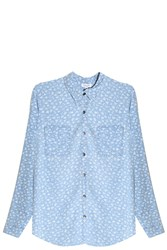 Splendid Indigo Floral Shirt Blue