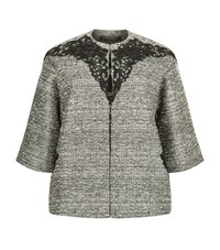 Marina Rinaldi Lace Overlay Lurex Swing Jacket Female Gold