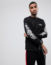 Diamond Supply Co. Long Sleeve T Shirt With Sleeve Prints Black