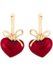 Kdia Heart Drop Earrings Red