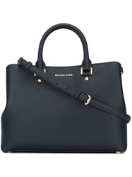 Michael Michael Kors Small 'Savannah' Satchel Blue