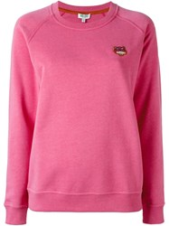 Kenzo 'Mini Tiger' Sweatshirt Pink And Purple