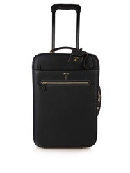 Mark Cross Grained Leather Cabin Suitcase Black