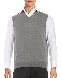 Black Brown Merino Wool Sweater Vest Iron Grey