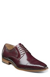 Stacy Adams Sanborn Perforated Cap Toe Derby Burgundy Leather
