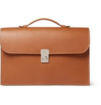 Connolly Leather Briefcase Tan