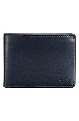 Men's Tumi 'Chambers' Leather Wallet Blue Navy